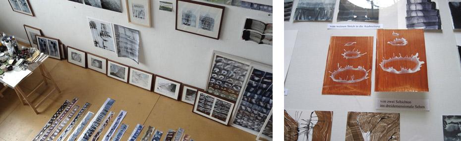 Atelier und Ausstellung von Eva-Maria Schön
